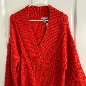 ASOS: red knit sweater